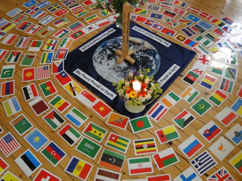 Zermonie für den Weltfrieden